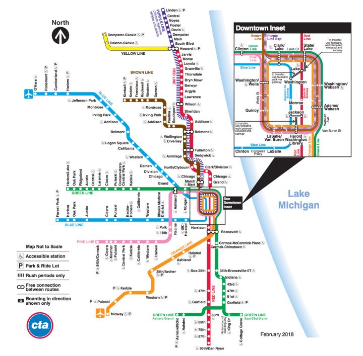 CTA L Line Map