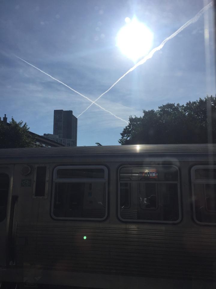 Chicago L CTA, Sunshine, Contrails