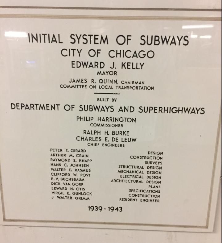 CTA Subway Sign Monroe Red Line
