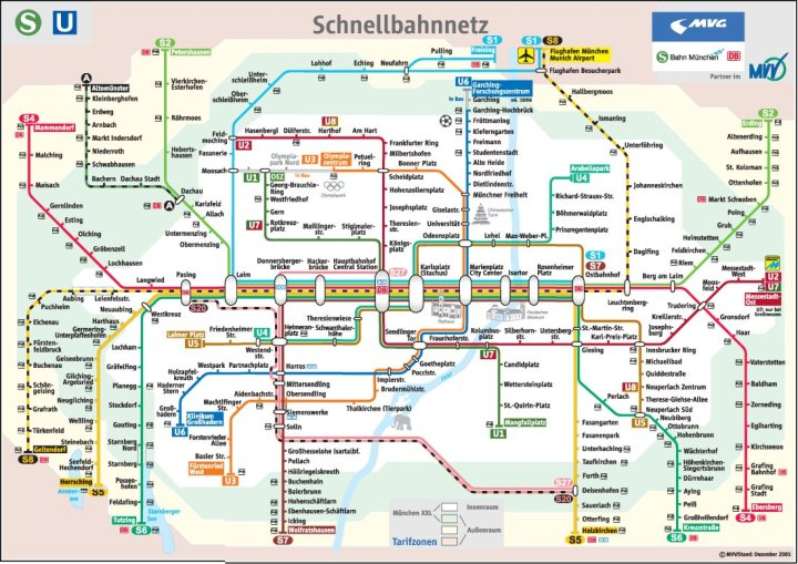 Munich S-Bahn and U-Bahn