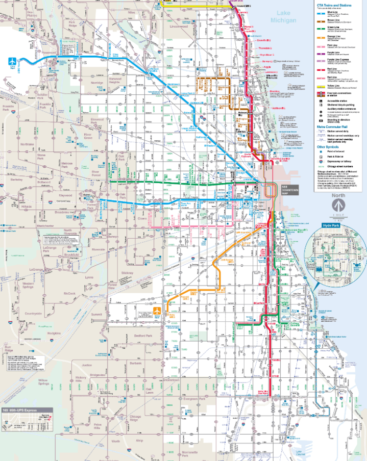 CTA Rail Map